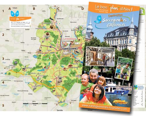 Carte touristique Communauté d'Agglomération Sarreguemines Confluences