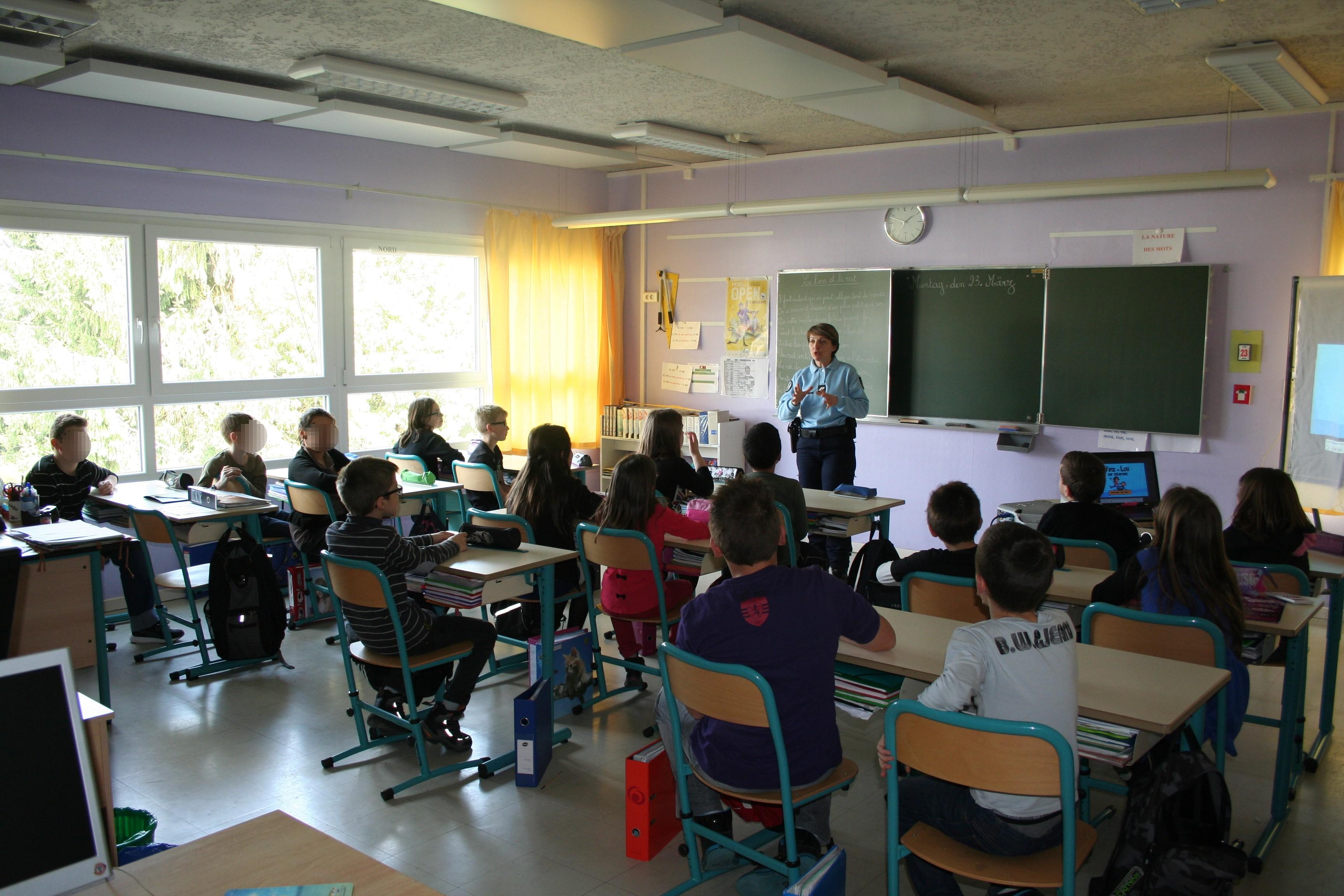 Intervention de la Brigade de Délinquance Juvénile dans les écoles primaires