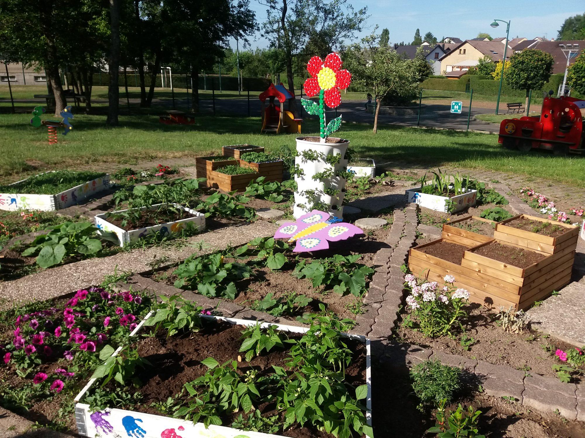 Jardin pédagogique école maternelle du Chambourg
