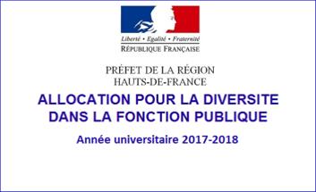 Allocation pour la diversité dans la fonction publique 2017/2018
