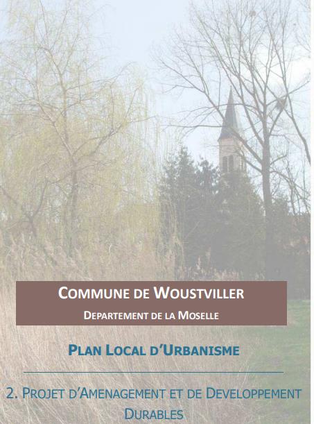 PLU – PRESENTATION DU PROJET D'AMENAGEMENT ET DE DEVELOPPEMENT DURABLES (PADD) au Conseil Municipal