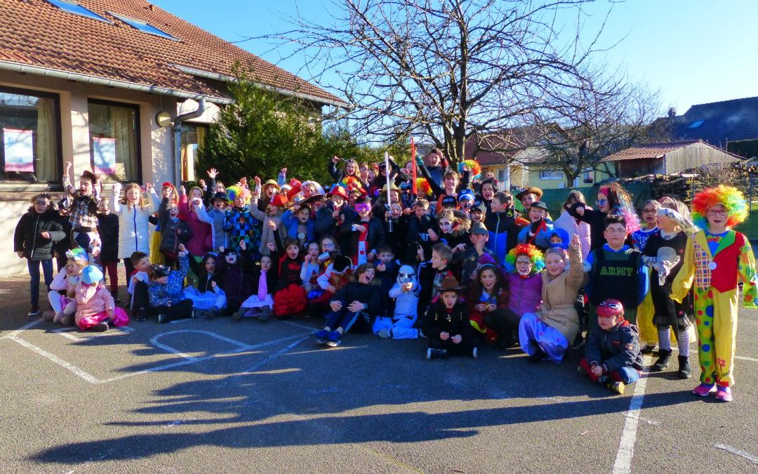Carnaval à l'école primaire du Chambourg