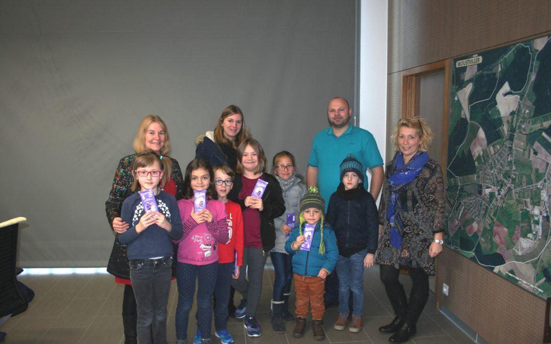 Visite des enfants du périscolaire à la mairie