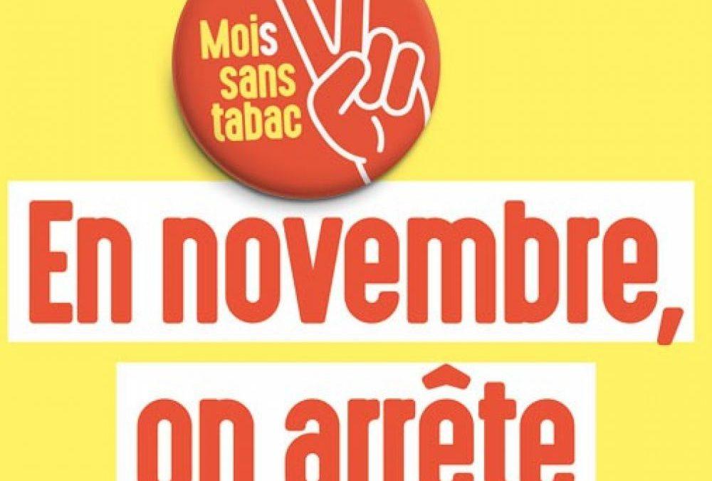 Le Mois Sans Tabac, en Novembre J'arrête de Fumer