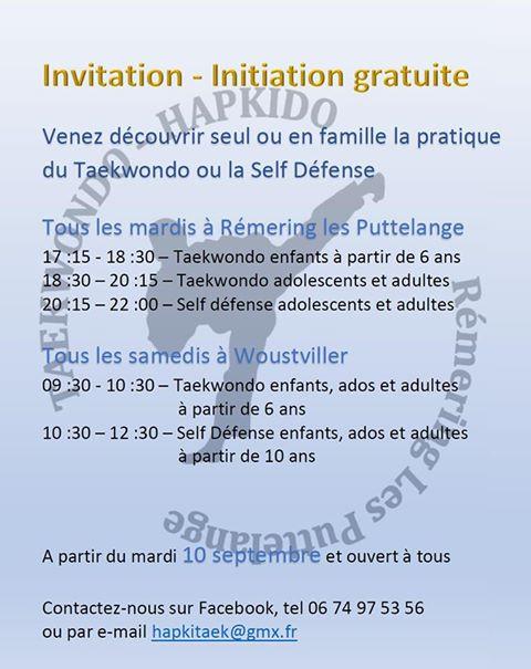 Reprise du Taekwondo et Self Defense