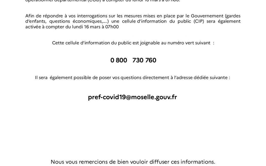 Cellule d'information Covid-19