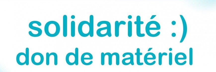 Solidarité don de matériels de protection