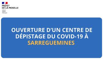 Centre de dépistage Covid-19 Sarreguemines