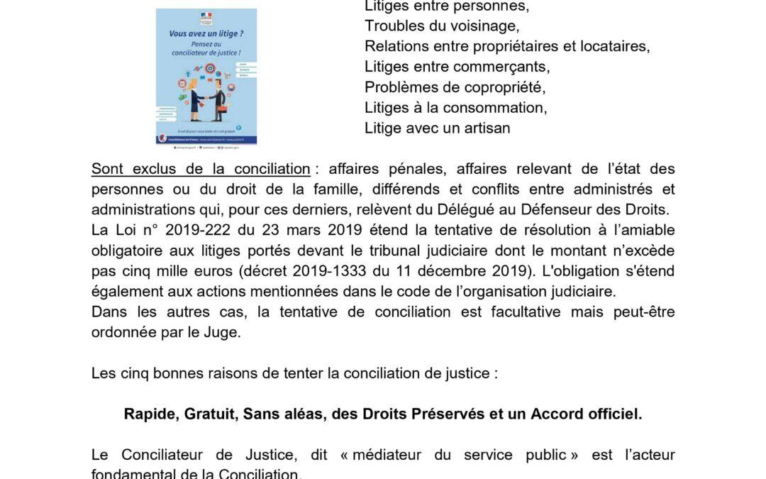Conciliation de Justice