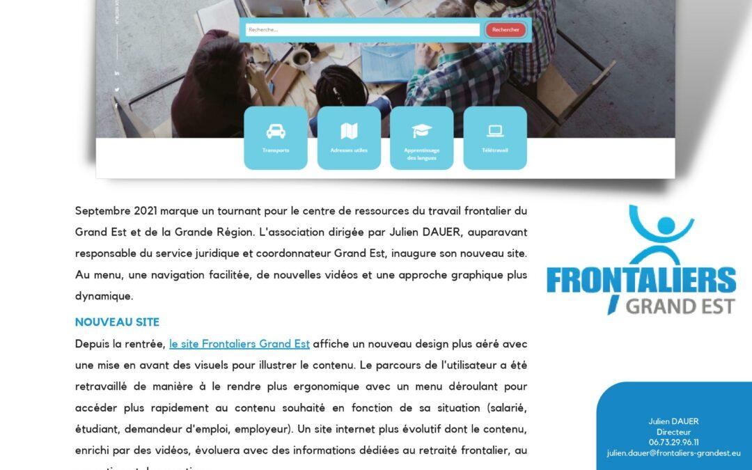 Nouveau site Frontaliers Grand Est et nouvelles vidéos tutoriels